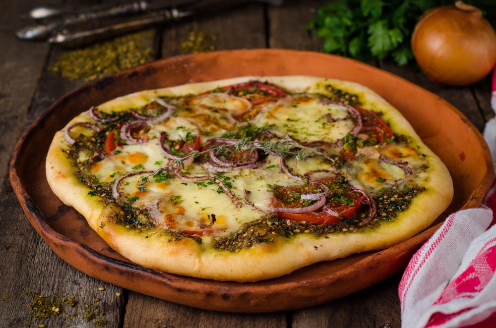 zaatar pizza líbano